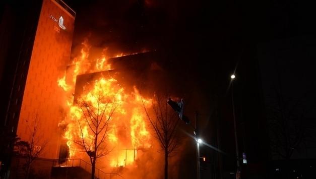 의정부시 견본주택서 대형 화재, 신속한 대처로 더 큰 피해 막아