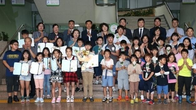 """제1회""""꿈대로""""그림그리기 대회 수상식 개최"""