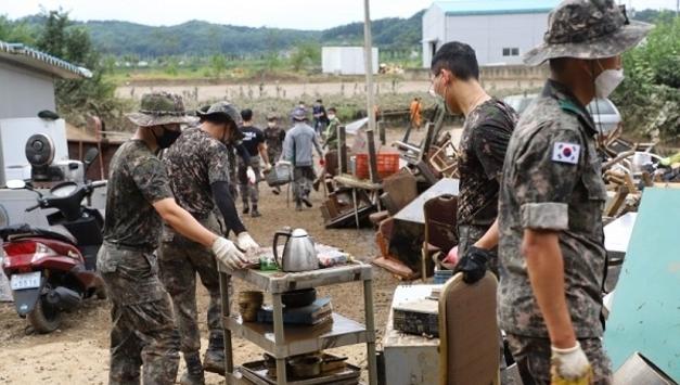 육군 28사단, 연천군 일대 수해복구 대민지원